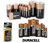 View Our Full Duracell batteries
